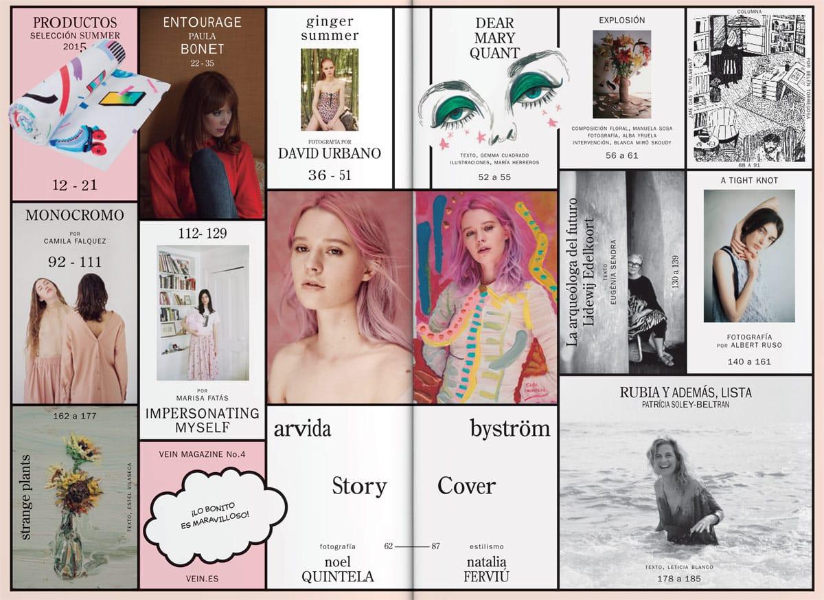 VEIN Magazine con dirección de arte del estudio Cordova-Canillas