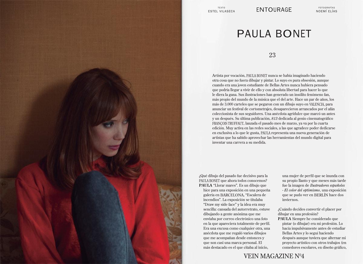 Ar tista por vocación, PAULA BONET nunca se había imaginado haciendo otra cosa que no fuera dibujar y pintar.