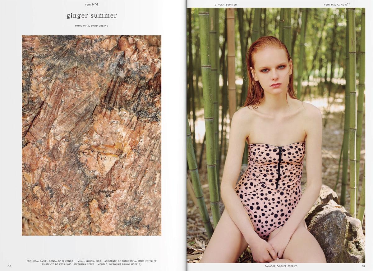"""""""Ginger Summer"""" por David Urbano y estilismo de Daniel González Elizondo"""