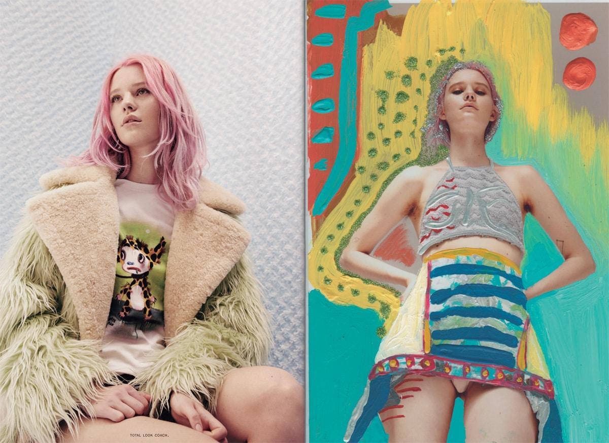 Fotografías de Noel Quintela y estilismo de Natalia Ferviú con la intervención de la artista argentina Sara Rainoldi.