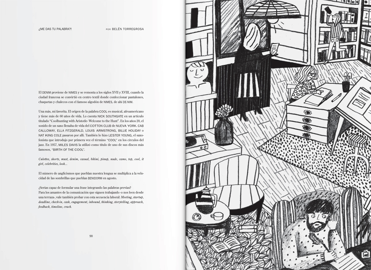 Columna de Belén Torregrosa ilustrada por Cachete Jack.