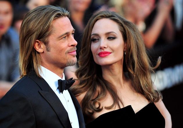 Brad Pitt y Angelina Jolie en los Oscar en la 84 � a 84 � ceremonia de los Oscar en Los Angeles