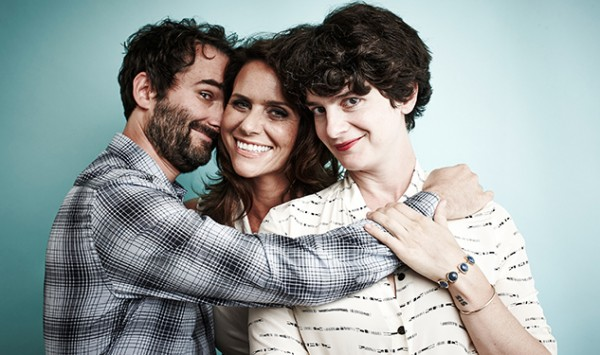 BEVERLY HILLS, CA - JULY 12:  (EDITORS NOTE: This image was processed using digital filters)  (L-R) Actors Jay Duplass, Amy Landecker and Gaby Hoffmann from 'Transparent' pose for a portrait during the Amazon Prime Instant Video portion of the 2014 Television Critics Association Summer Tour at The Beverly Hilton Hotel on July 12, 2014 in Beverly Hills, California.  (Photo by Maarten de Boer/Getty Images)
