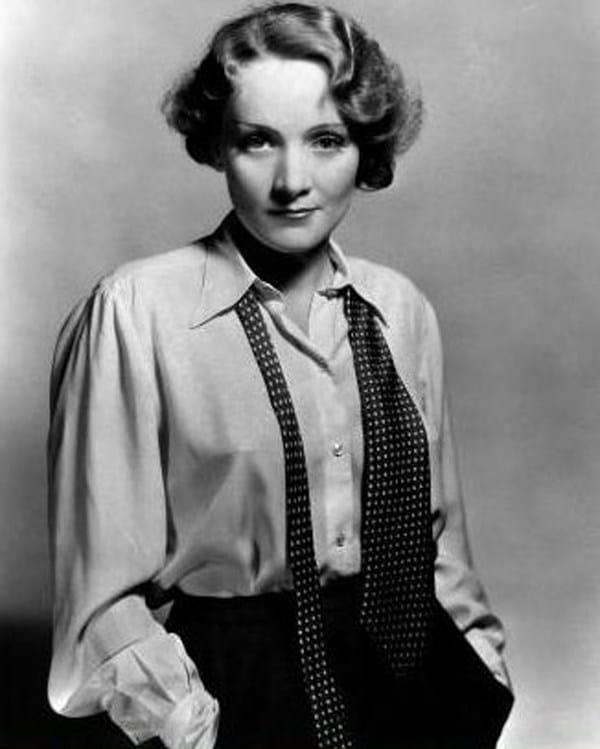 Marlene+Dietrich+tie