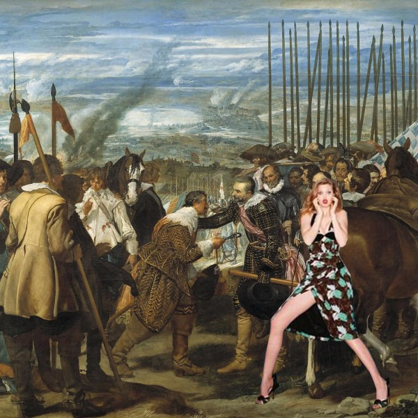 """""""OMG, I Think I Gave Them The Same Appointment For a Date 😱"""" Painting: The Surrender of Breda by Diego Velazquez"""