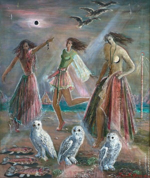 'Three Women And Three Owls', Juanita Guccione
