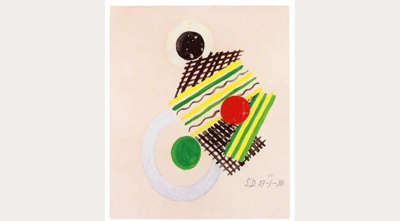 Sonia Delaunay, Sin título, 1936 - vía ArtFund