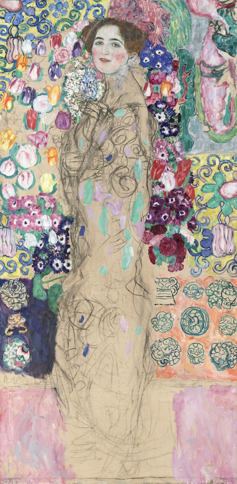 """""""Posthumous Portrait of Ria Munk III"""" (1917-18) by Gustav Klimt is shown in this handout photo released to the media on Sept. 3, 2013. It is part of """"Facing the Modern: The Portrait in Vienna 1900,"""" an exhibition at the National Gallery. Source: The Lewis Collection/National Gallery via Bloomberg"""