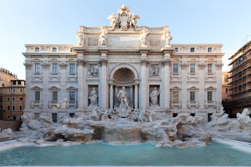 Trevi Fountain 2015 restored by Fendi.