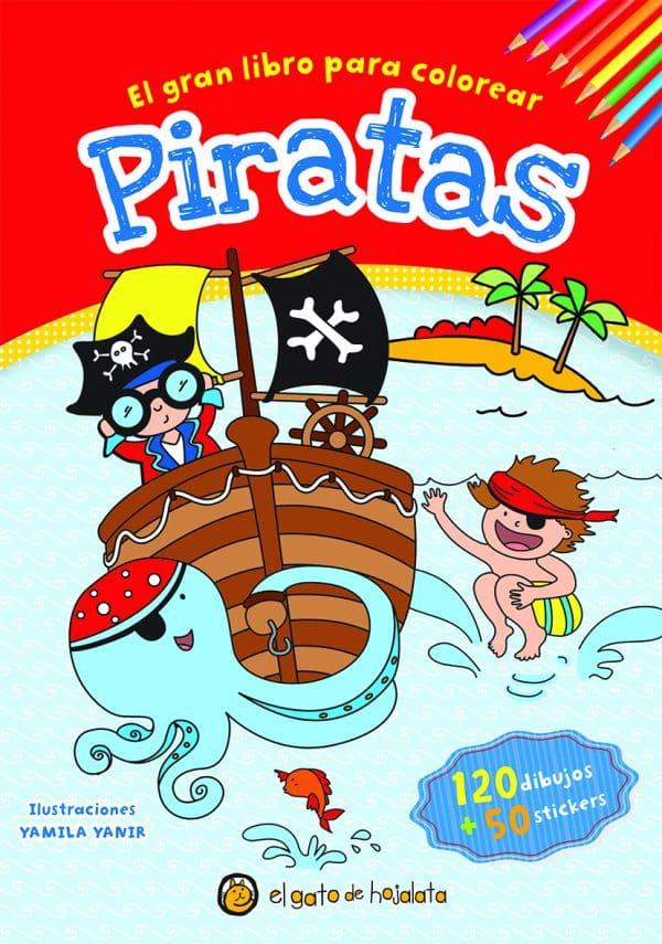 libro para colorear piratas