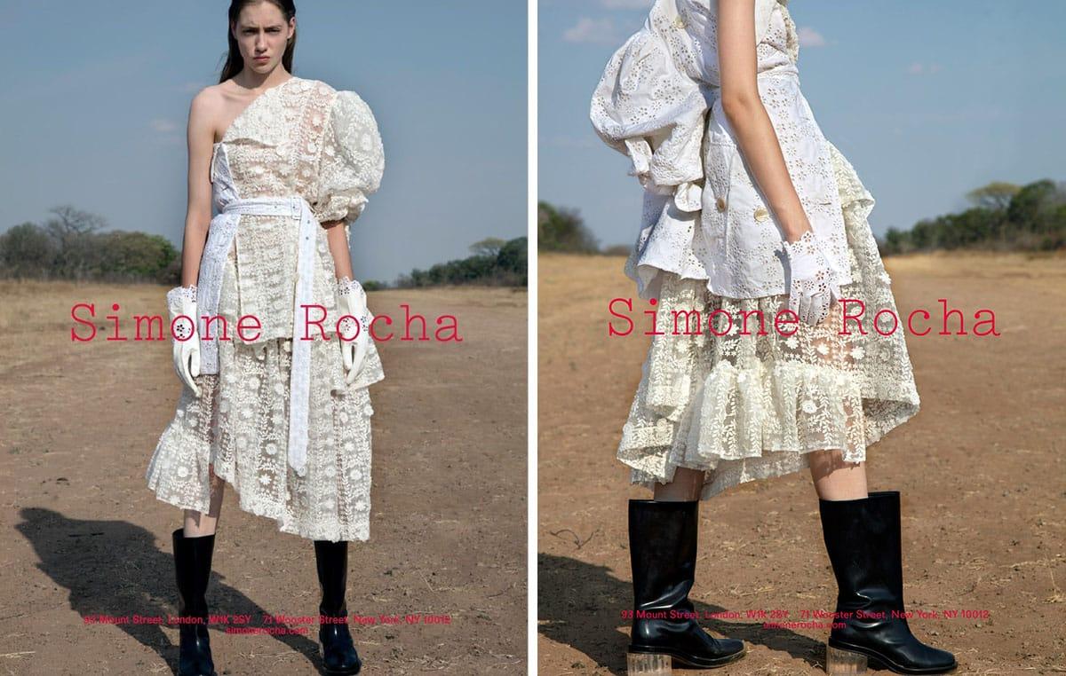 simone rocha spring 2017 campaigns